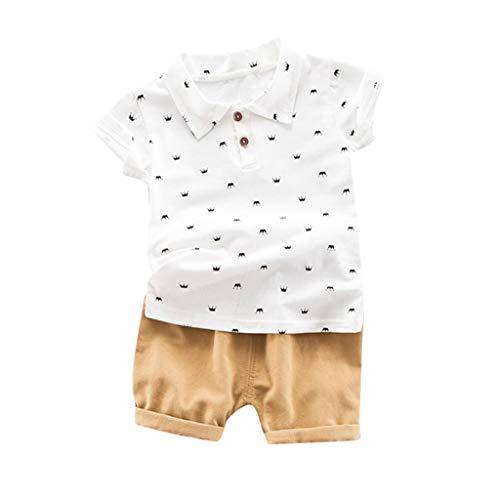 Lonshell Conjuntos Bebé NiñO,2019 Verano Ropa ReciéN Nacidos Mangas Cortas Camiseta T-Shirt Estampado Tops Y Pantalones Verano Ropa Conjunto De Dos Piezas