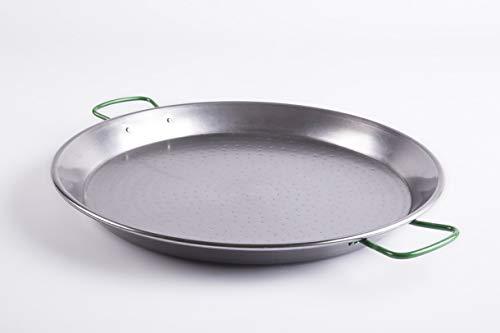 BelleVie Spanish Carbon Steel Paella Pan Diameter 18 1/2 in X Height 2 in