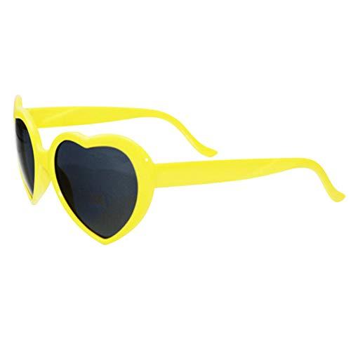 somubi Gafas de sol en forma de amor para mujeres hombres vintage ojo de gato estilo Mod retro gafas efecto corazón difracción gafas de luz cambiantes 7 colores