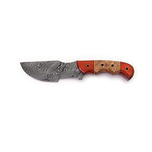 Abanak T111 cuchillo de caza de acero de damasco artesanal, 25,5cm, 14 hoja x 11,5 mango
