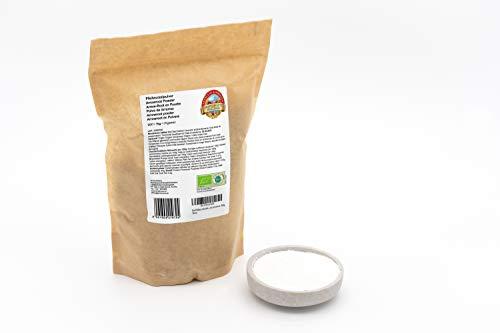 Polvo de Arrurruz BIO 1 kg Arrowroot, harina espesante, ecológico calidad superior, orgánico, 1000g