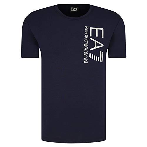 Emporio Armani Herren-T-Shirt EA7 3KPT10 PJ7RZ, kurzärmelig, Rundhalsausschnitt Gr. M, dunkelblau