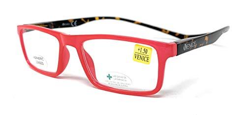 Gafas de lectura, presbicia, vista cansada, Diseño en Colores. VENICE Neck Iman - Dioptrías: 1 a 3,5 (Rosa, 2.50)