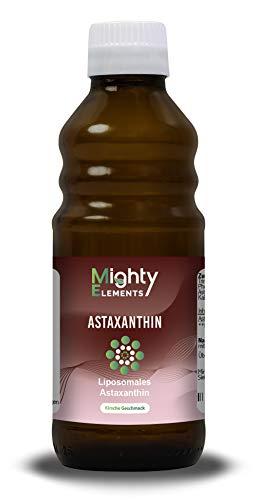 Liposomales Astaxanthin (12 mg) I über 60 Portionen I überzeugender Geschmack I hochdosiert I vegan I hohe Bioverfügbarkeit I flüssig I Mighty Elements I 250 ml...