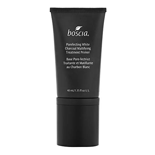 boscia Porefecting White Charcoal Mattifying Treatment Primer - Vegan, Cruelty-Free, Natural and Clean Skincare | Makeup Face Primer with Binchotan and Witch Hazel for Oily Skin, 40mL
