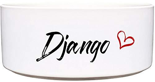 Cadouri Keramik Hundenapf ︎ personalisiert ︎ mit Name deines Hundes┊Futternapf Wassernapf (Herz) - 1.300 ml