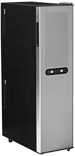 Wine Enthusiast Silent 18 Bottle Wine Refrigerator - Freestanding Slimline Bottle Storage Wine Cooler, Black