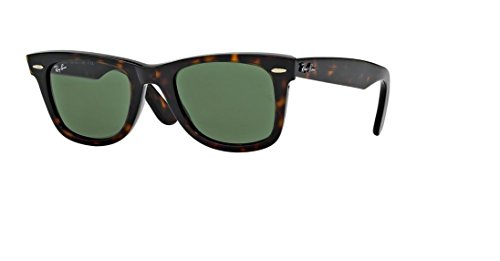 Ray-Ban RB2140 Original Wayfarer - Gafas de sol polarizadas (50 mm) Lente G15 de marco de tortuga de 50 mm. M