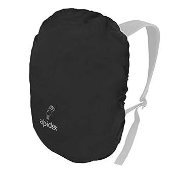 ALPIDEX Housse Pluie Sac à Dos Cordon Serrage Pochette Rain Cover Différentes Tailles, Couleur:Black, volumen in l:15-30 Litre