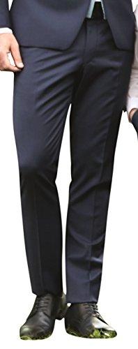 Wilvorst Hose zum Hochzeitsanzug der Marke, blau, in einem uninahen Serge Nouveau, Drop8, Super-Slimline Größe 62