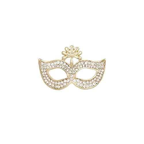 THNSIOE Máscara Broches Cristal Mujeres Hombres Fiesta