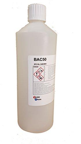 Benzalconio cloruro alghicida BAC50battericida e fungicida Vari, 1L, 1