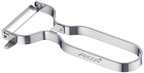 Arcos Gadgets Profesionales, Pelador de Frutas Pelador de Verdura, Acero Inoxidable Cromado, Color Plata