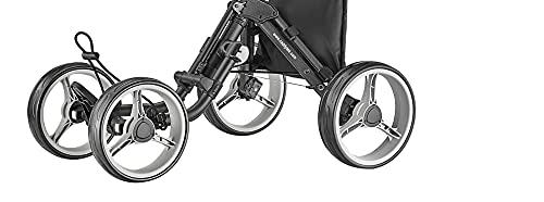 caddytek 4 Wheel Golf Push Cart - Compact, Lightweight, Close Folding Push Pull Caddy Cart Trolley - Explorer V8, Dark Grey, One Size, Model: Explorer Vsersion 8 - Dark Grey
