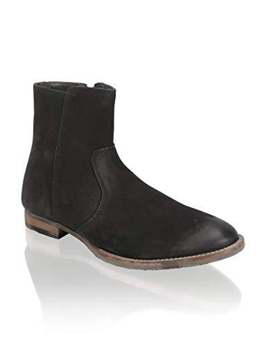 URBAN X, Herren Chelsea Boots, modisch sportlicher Kurzschaft Stiefel in schwarz aus Wildleder, Größe 43 EU