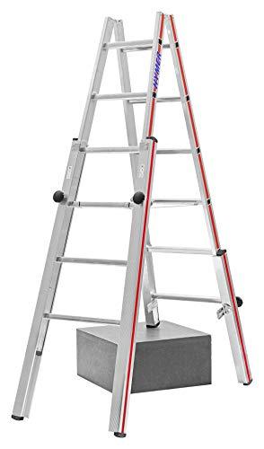 HYMER 412312 Treppenstehleiter, 2x6 Sprossen