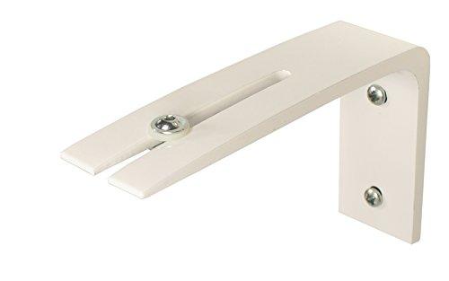 iso-design Wandträger für Gardinenschienen - weiß