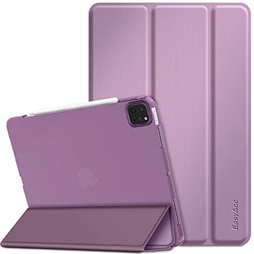 EasyAcc Funda compatible con iPad Pro 11 2020, ultrafina, translúcida, mate, con función de encendido y apagado automático, color morado