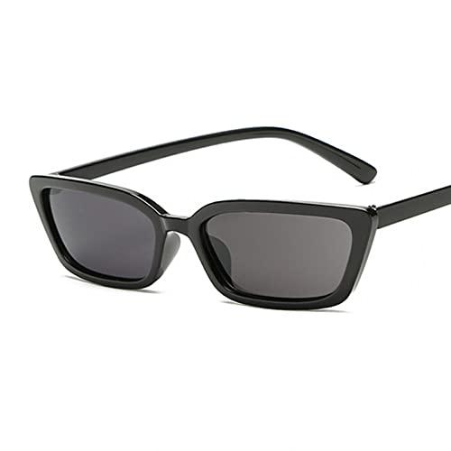 Tanxianlu Gafas de Sol pequeñas de Ojo de Gato a la Moda para Mujer, Gafas De Sol Negras Retro De Espejo De plástico Vintage para Mujer, Gafas De Sol Femeninas Uv400,D
