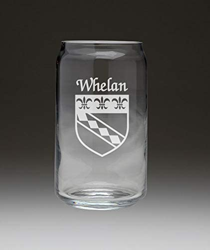 Whelan Irish Coat of Arms Beer Can - Set 4 Be super welcome Brand Cheap Sale Venue Glass