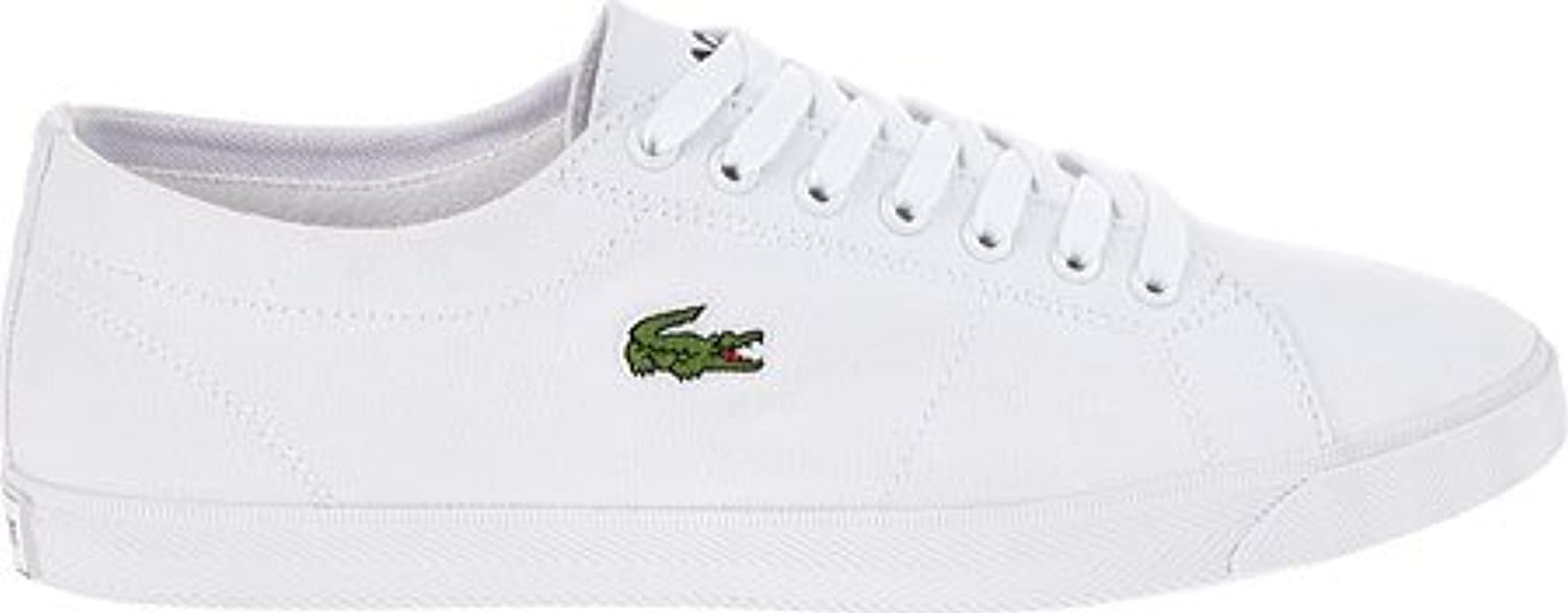 Lacoste Mens White Marcel LCR2 Canvas Trainers