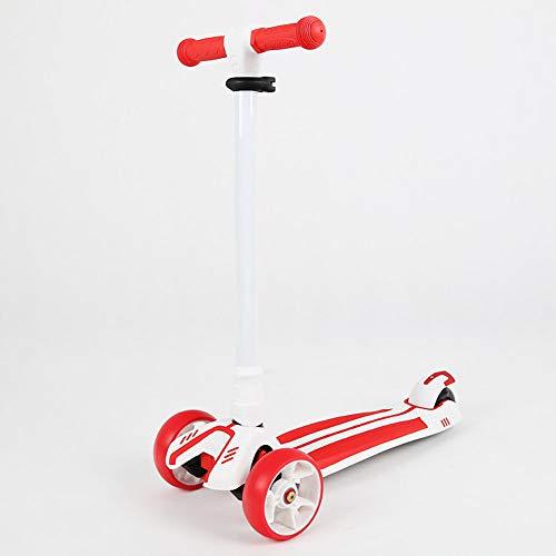 Scooter para niños, mini rueda de patinaje plegable de 4 ruedas con altura ajustable, ruedas intermitentes de PU, dirección por gravedad, actividades para niños, para niñas y niños de 3-8 años,A2