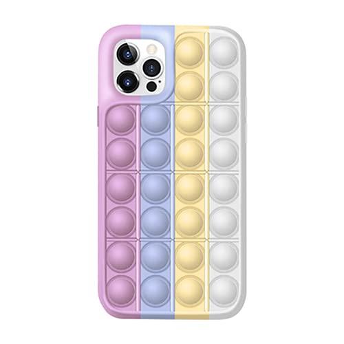 Funda iPhone XS MAX Silicona Sensorial Fidget Juguete - Pop It Fidgets Toy Sensory Figwt Toys Fundas Compatible con Apple Phone Case - Stress Relief para Autismo Ansiedad Niños Adulto Relajarse