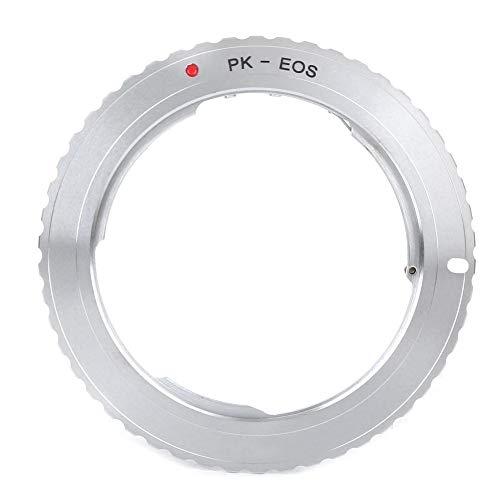 Anillo adaptador de lente PK-EOS, anillo adaptador de lente de cámara de aleación de aluminio para lente de montaje Pentax PK para cámara SLR digital Canon EOS Operación manual completa