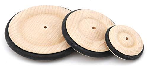 Holzrad aus Buche mit Gummireifen 85mm, 1 Stk - Räder aus Holz made in Austria