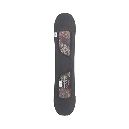 MONS スノーボード用ニットカバー ソールカバー ベルクロストラップ式 | 子供のサイズ (120cm) | ファブリックソフト 通気性 伸縮性抜群 | ヘザーグレー(台湾製)