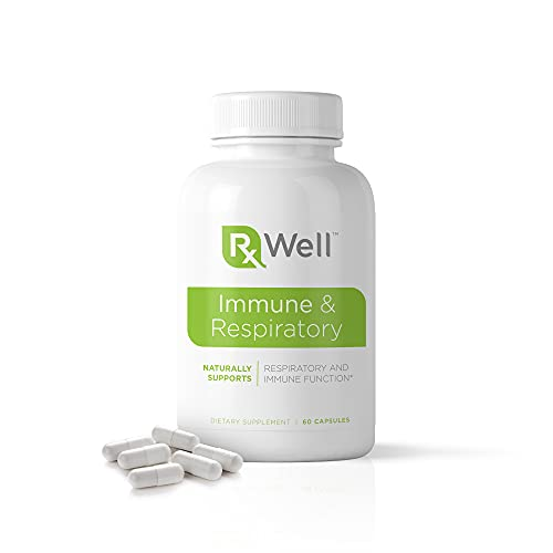 RxWell - Immune and Respiratory Support, Seasonal and Cellular Immune Support with Vitamin D3, Vitamin C, and Zinc, 60 Capsules