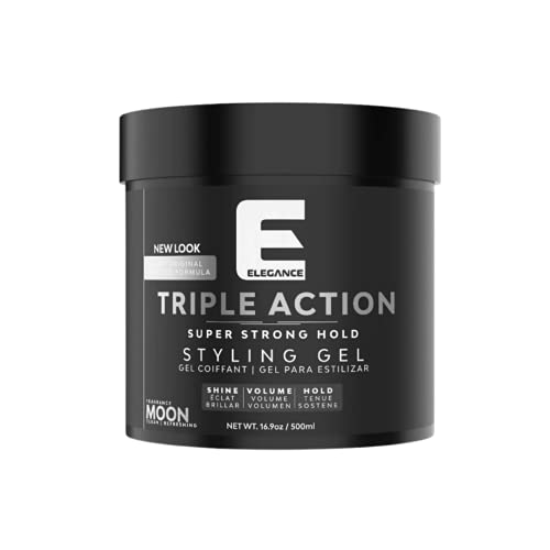 Elegance Gel Strong Hold Triple Action (Silver,...