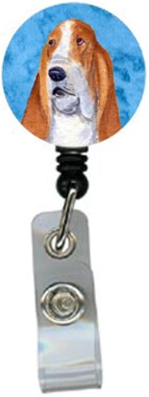 Caroline 's Treasures Basset Hound Retractable Badge Reel oder ID Holder mit Clip, multiFarbe (ss4804-bu-br) B00J4S2WPK | Hohe Qualität und günstig