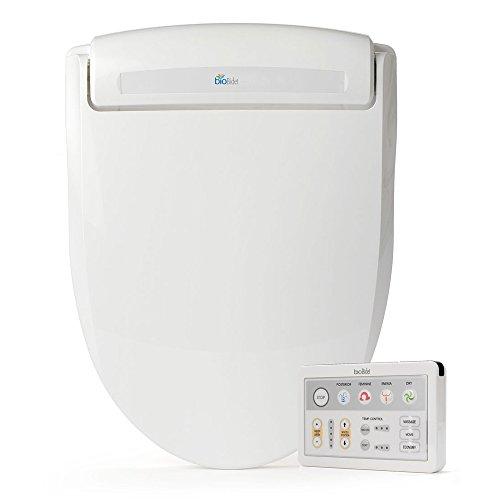 Bio Bidet Supreme BB-1000 Round White Bidet Toilet Seat Adjustable Warm Water, Self Cleaning, Wireless Remote Control, Posterior and Feminine Wash, Electric Bidet, Easy DIY Installation 3 in 1 Nozzle, Power Save Mode is Eco Friendly