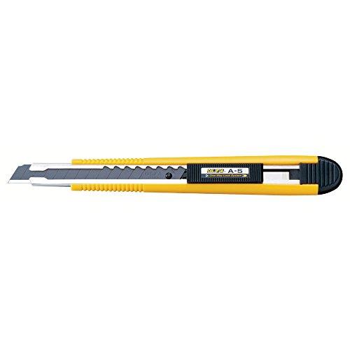 OLFA schlankes Industrie-Cuttermesser A-5 9mm mit Klingenabbrechhilfe