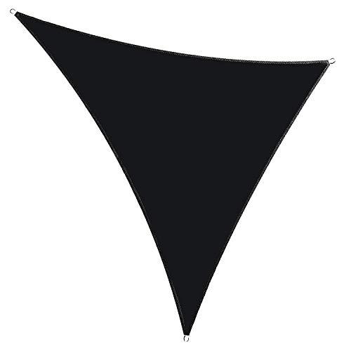 Generic Brands Nützliches Sonnensegel, wasserdicht, mit Seil, Sonnenschutz für Garten, Strand, Terrasse, Überdachung – Schwarz (2 x 2 x 2 m)