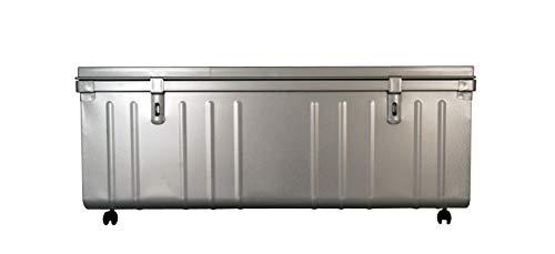 Coffre de Rangement sur Roulette, 175 L, Aluminium