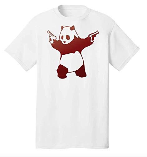 Banksy Gun Slinger Panda Grappig Uniek T-shirt voor heren