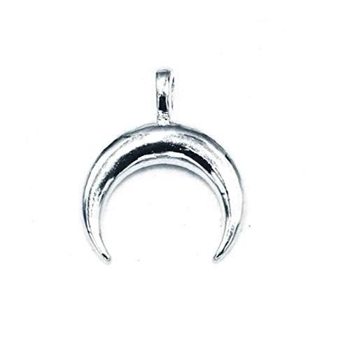 Stainless Steel Horn Pendant Crescent Pendant Suitable for Making Necklace Bracelets