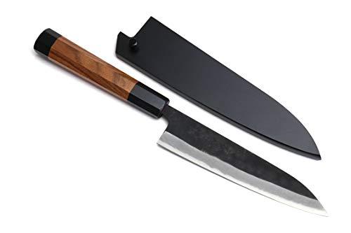 Yoshihiro Mizu Yaki Aogami Super Blue High Carbon Steel Kurouchi Petty Utility Knife (6