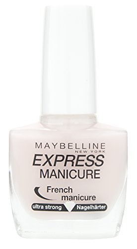 Maybelline New York Make-Up Nailpolish ExpressManicure Nagellack French Manicure Rosé / Nagelhärter für gestärkte Nägel, 1 x 10 ml