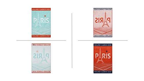 Roland Garros 2020 on Court Lady & Men Tennis - Toalla de deporte (2 unidades)