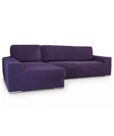 10XDIEZ Funda de sofá Chaise Longue b/Largo Glamour - Color - Malva, Lado - Izquierda