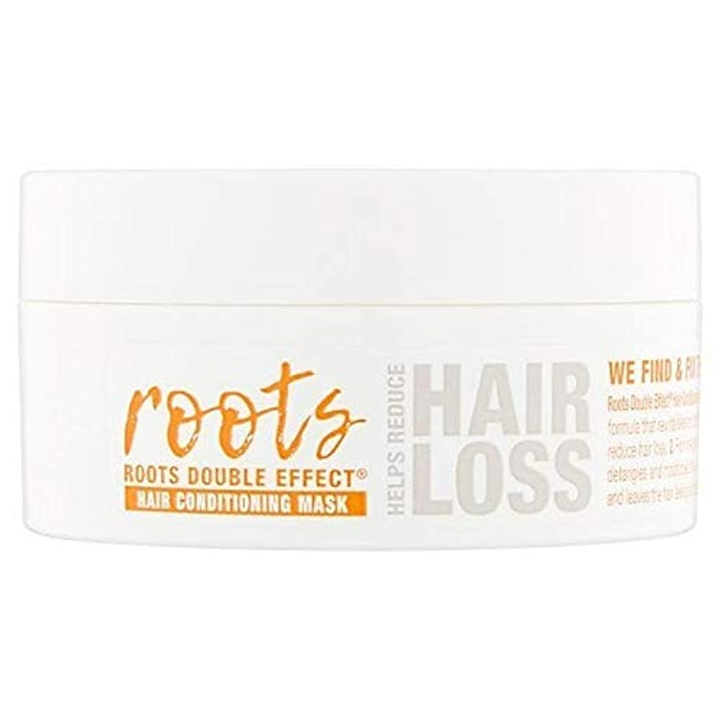 お酒球状入札[Roots ] 根のダブル効果ヘアコンディショニングマスク200ミリリットル - Roots Double Effect Hair Conditioning Mask 200ml [並行輸入品]