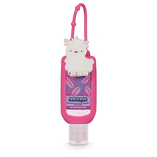 dulgon reinigendes Handgel mit Lama Motivhülle - Hygiene Hand Gel mit Gänseblümchenduft ideal für die Handtasche oder unterwegs - Hygiene für die Hände 50 ml