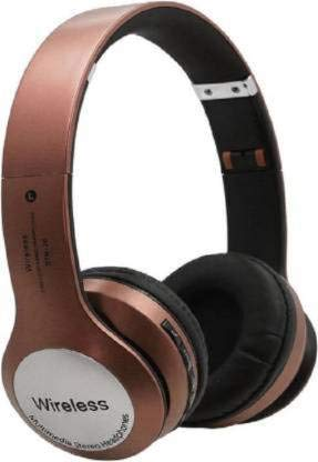 B M CSolo B20 Bluetooth Headphones with Tf Card Slot Compatible with Samsung LG Sony HTC Huawei Google Xiaomi Android Smart Phones for Women Men Kids Boys Girls- Brown.