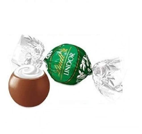 Praline Lindor cioccolato latte morbido ripieno alla menta senza glutine 500 gr Lindt