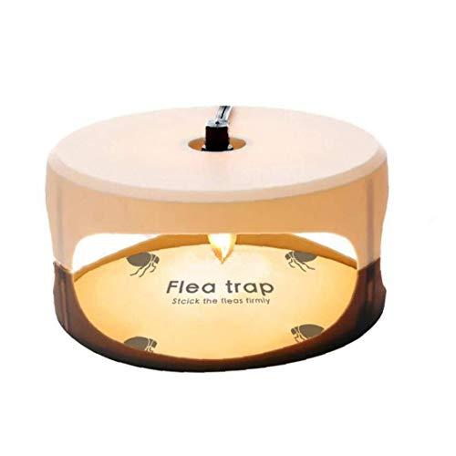 Aardich Trampa de pulgas Asesino de la Mosca de la lámpara Redonda Simple instalación Pegamento Discos Mejor Control de plagas para el hogar