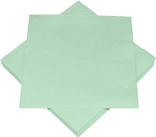 Heku 30241-07: 100 einfarbige Servietten, 3-lagig, 33x33cm, Mint