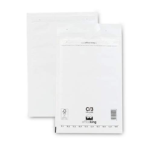 OfficeKing 50 Luftpolsterumschläge C3 weiß 170x225mm DIN A5 Luftpolstertaschen Verpackung Polsterumschläge Briefumschläge gepolstert